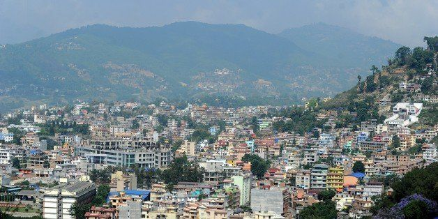 In this photograph taken on May 21, 2015, a General view of the Kathmandu after multiple earthquakes struck the Himalayan nat