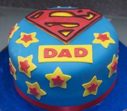 "<strong><a href=""http://cakesdecor.com/cakes/64828"" target=""_blank"">Superman Father's Day Cake</a> from Cakes Decor</strong>"