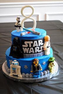 "<strong><a href=""http://smilelaughlearn.blogspot.com.au/2011/06/star-wars-lego-cake.html"" target=""_blank"">Star Wars Lego Cake"