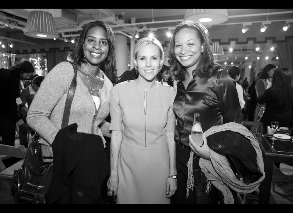 Tory Burch with two small business owners at the Tory Burch Foundation mentor event.