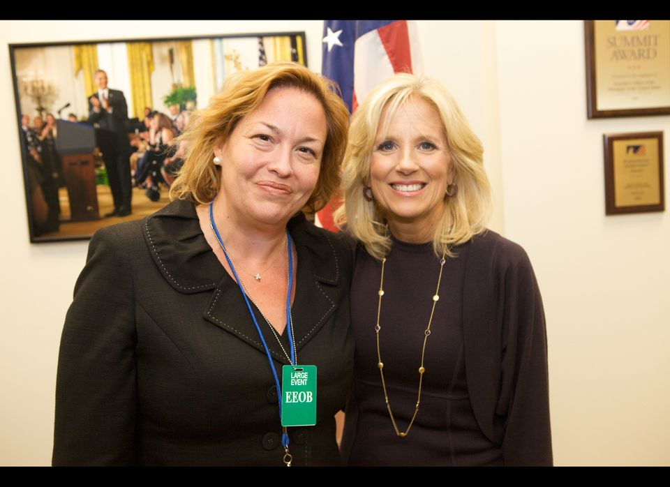 White House Community College Summit – Elisabeth with Dr. Jill Biden earlier this month at the first ever White House Summit