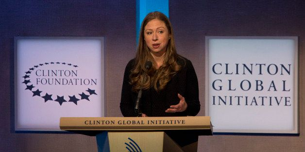 Chelsea Clinton, vice chairman of the Clinton Foundation, speaks during the annual meeting of the Clinton Global Initiative (