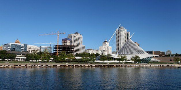 MILWAUKEE - SEPTEMBER 13:  Partial view of the Milwaukee skyline on September 13, 2015 in Milwaukee, Wisconsin. (Photo By Ray