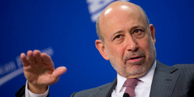 Lloyd Blankfein, chief executive officer of Goldman Sachs Group Inc., speaks during a panel discussion at the Center for Amer