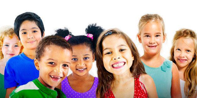Children Kids Diversity Friendship Happiness Cheerful Concept