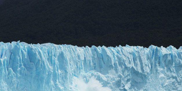 SANTA CRUZ PROVINCE, ARGENTINA - NOVEMBER 29:  Ice calves from the Northern wall of the Perito Moreno glacier in Los Glaciare
