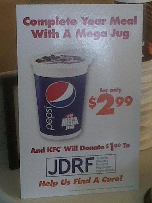 KFC Shows They Don't Give a Cluck About Juvenile Diabetes