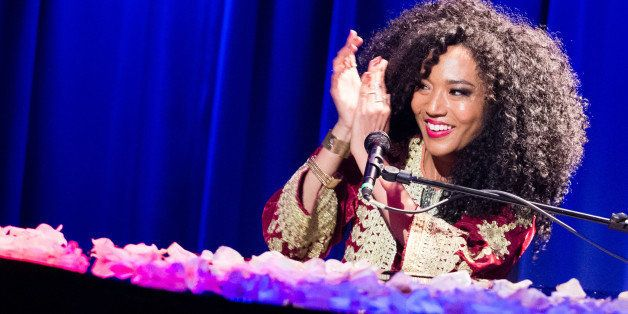LOS ANGELES, CA - FEBRUARY 22:  Singer/songwriter Judith Hill performs at Spotlight: Judith Hill at The GRAMMY Museum on Febr