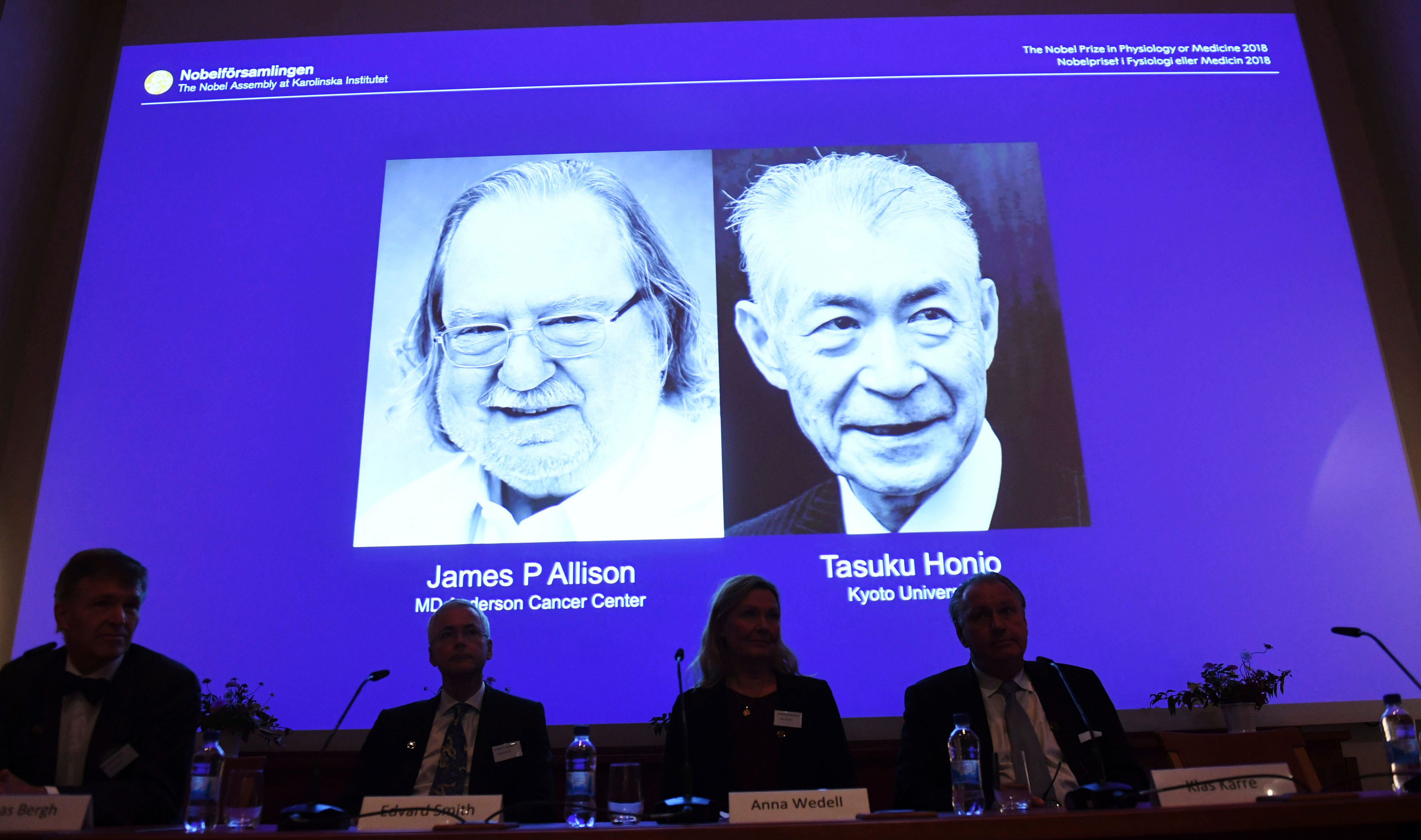 Cancer researchers from US and Japan awarded Nobel Medicine Prize