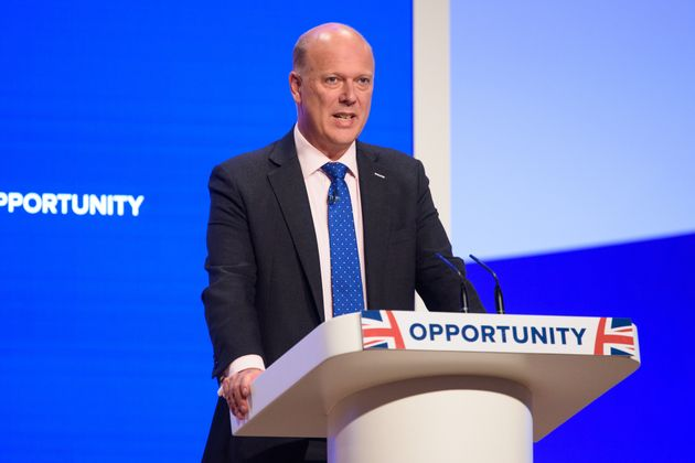 Transport Secretary Chris Grayling faced ridicule for being seven minutes late to his own conference