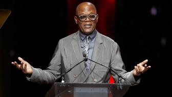 Actor Samuel L. Jackson accepts the Cinema Icon Award during the CinemaCon Big Screen Achievement Awards in Las Vegas, Nevada, U.S., April 26, 2018. REUTERS/Steve Marcus