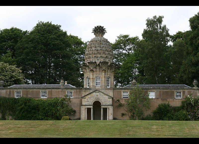 """The Dunmore Pineapple, built in 1761, is said to """"rank as the most bizarre building in Scotland."""" The building, home to the E"""