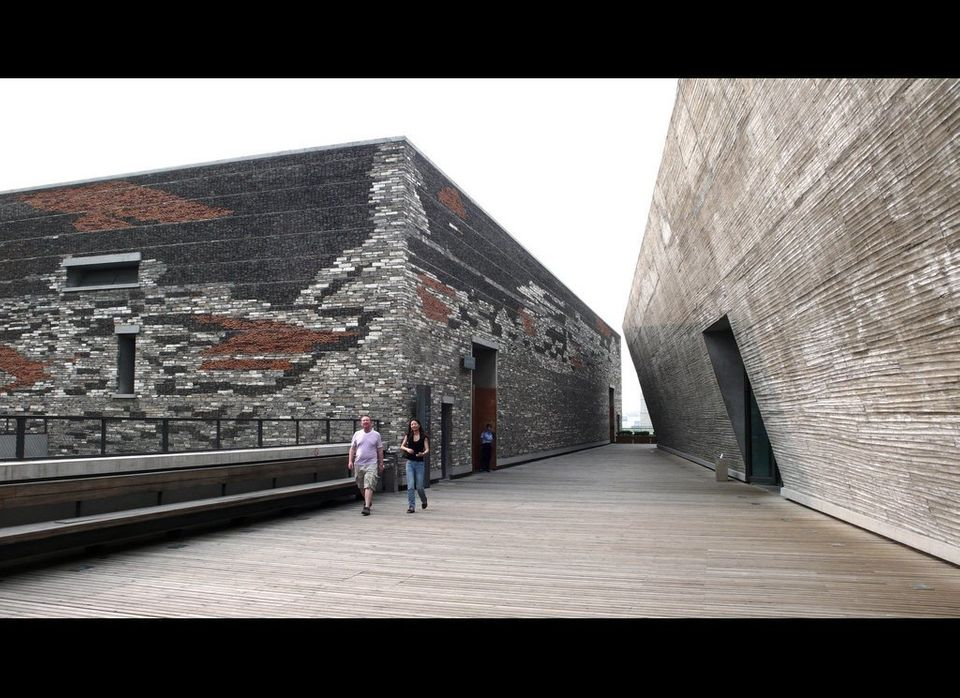 """Wang Shu/Amateur Architecture Studio: Ningbo Historic Museum. See project <a href=""""http://openbuildings.com/buildings/ningbo-"""