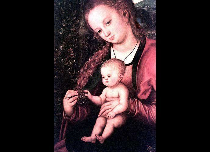 <em>Madonna and Child in a Landscape</em> By Lucas Cranach the Elder, 1518