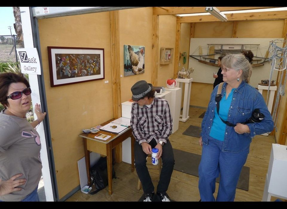 The P.S. Zask Gallery got their whose stable of artist into their POD Portable Storage Container