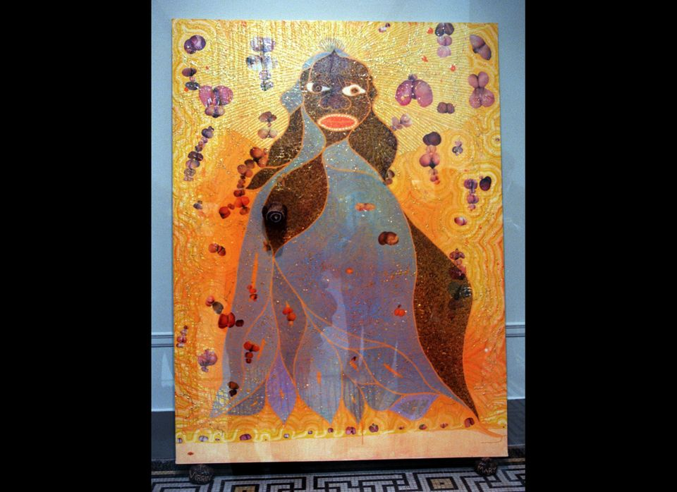 <em>Chris Ofili, Virgin Mary</em>