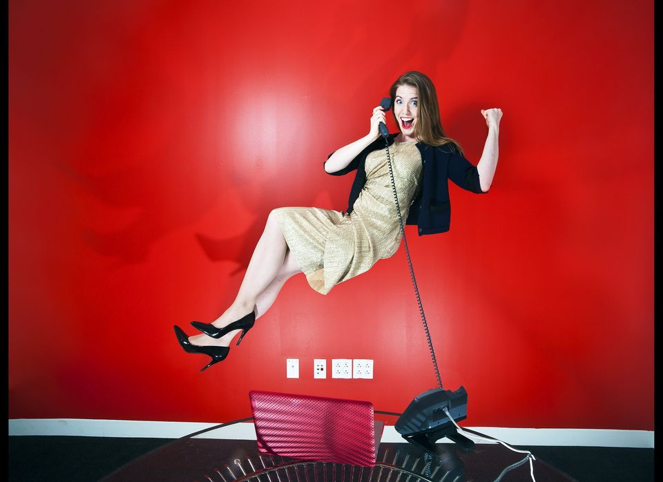 Jessica Rotondi, associate editor of HuffPost Women takes part in a Levitation photo series Friday Dec. 5, 2011. (Damon Dahle
