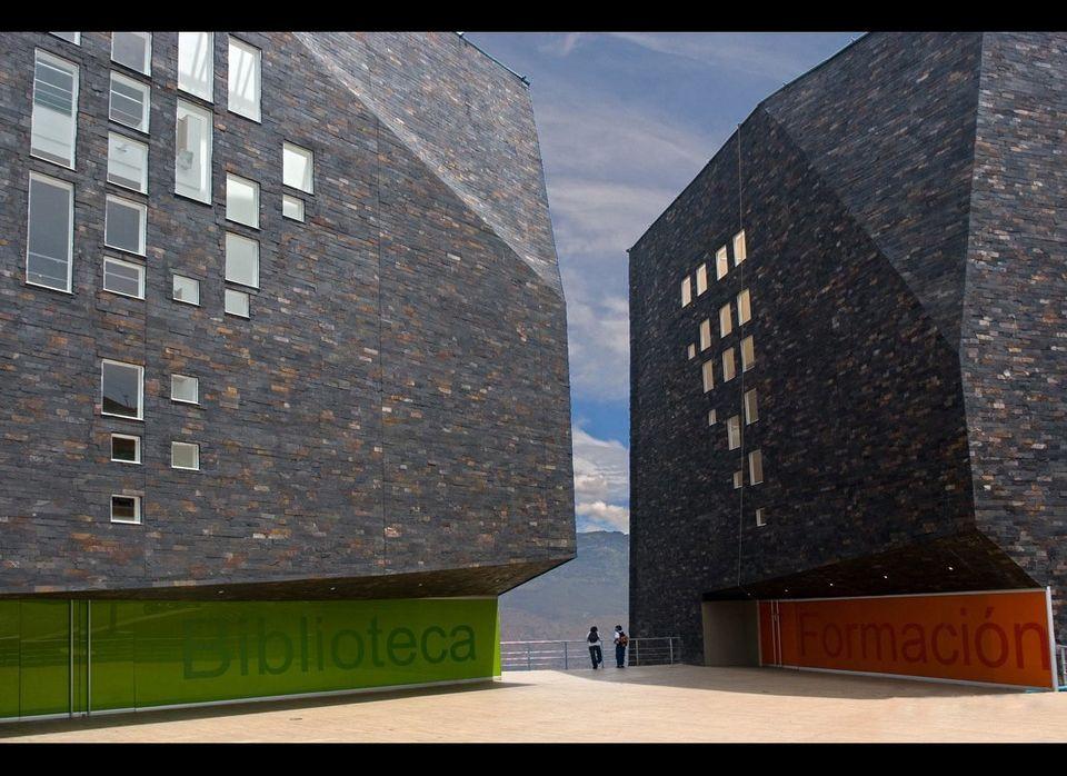 "Giancarlo Mazzanti: España Library. See more <a href=""http://openbuildings.com/buildings/espana-library-profile-3182"" target="