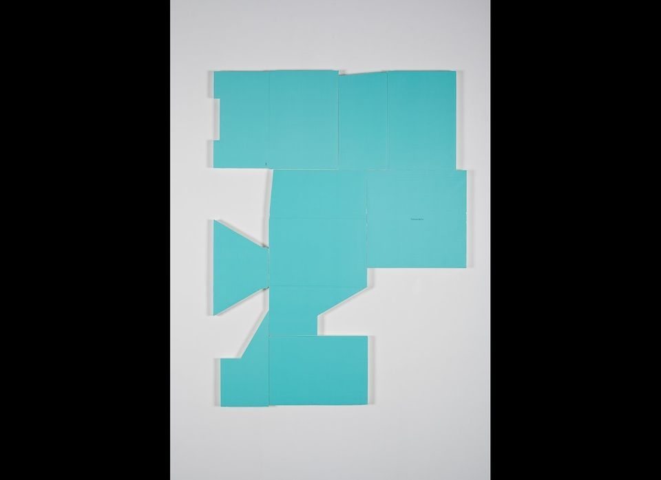 "Michael St. John, ""Untitled (tiffany box)"", Collage, acrylic on wood