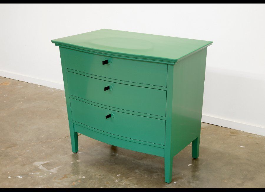 Roy McMakin, A Chest of Drawers Based Upon a Chest of Drawers From My Side Porch, 2008. Poplar with oil enamel paint, 39 1/2