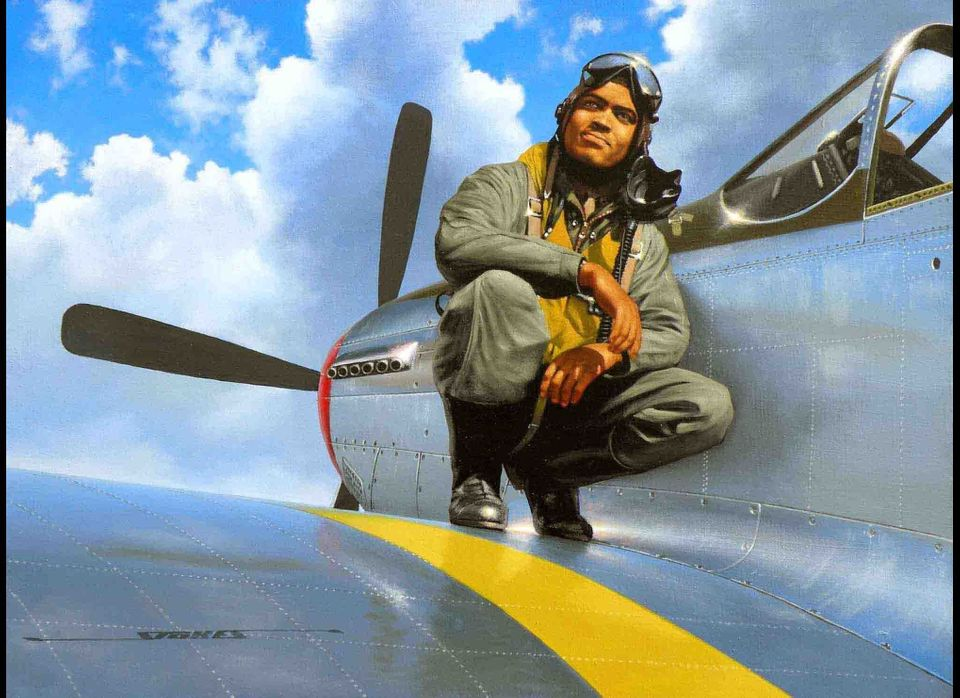 Bob was a 332nd fighter pilot who twice shot down enemy aircraft. After the war, he wrote a screen play about the whole exper