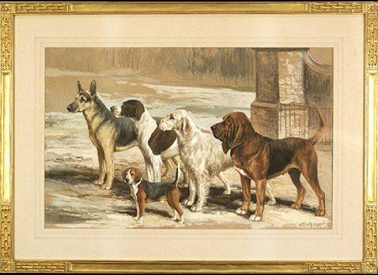 Ward Binks (British, 1880-1950) Breaking Covey Gouache on paper, 13 x 17 3/8 inches Provenance: Geraldine Rockefeller Dodg