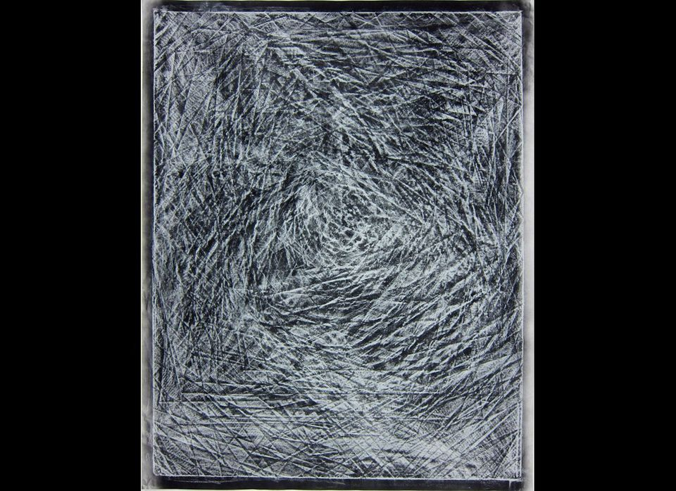 "Chris Duncan, ""Rubbing 1"", Crayon on paper, 40"" x 32"", 2011, Courtesy of COOPER COLE"