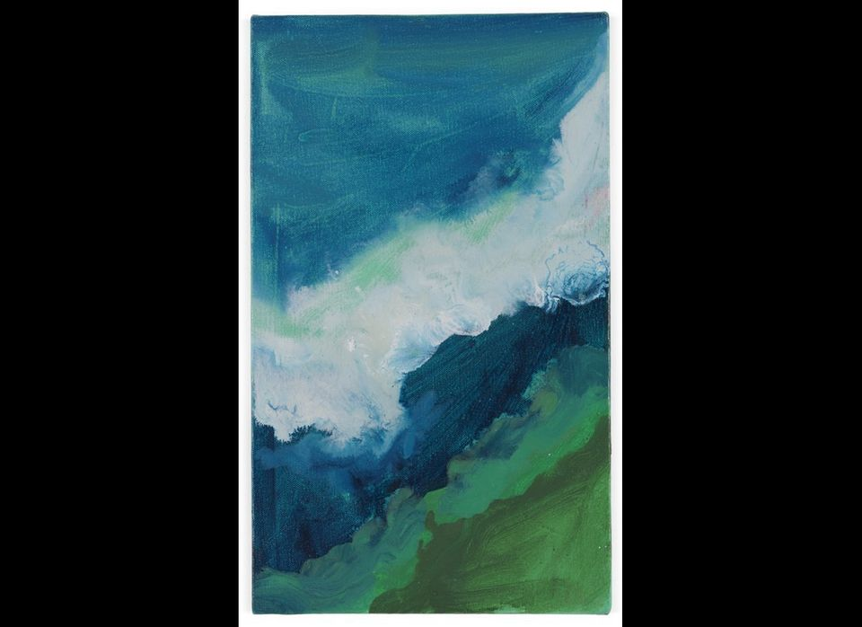 Mary Heilmann, 'Crashing Wave',  2010, Oil on canvas, 38.5 x 22.9 cm / 15 1/8 x 9 in, © Mary Heilmann, Courtesy the artist an