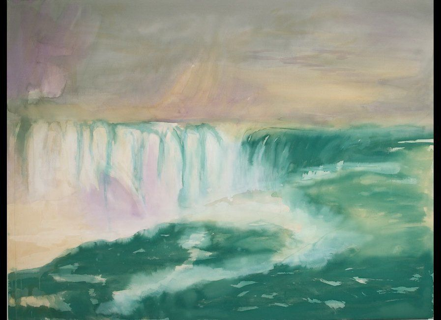 Liz Markus, I Say a Little Prayer for You, acrylic on unprimed canvas, 54 x 60 inches, 2012, Courtesy of ZieherSmith, New Yor