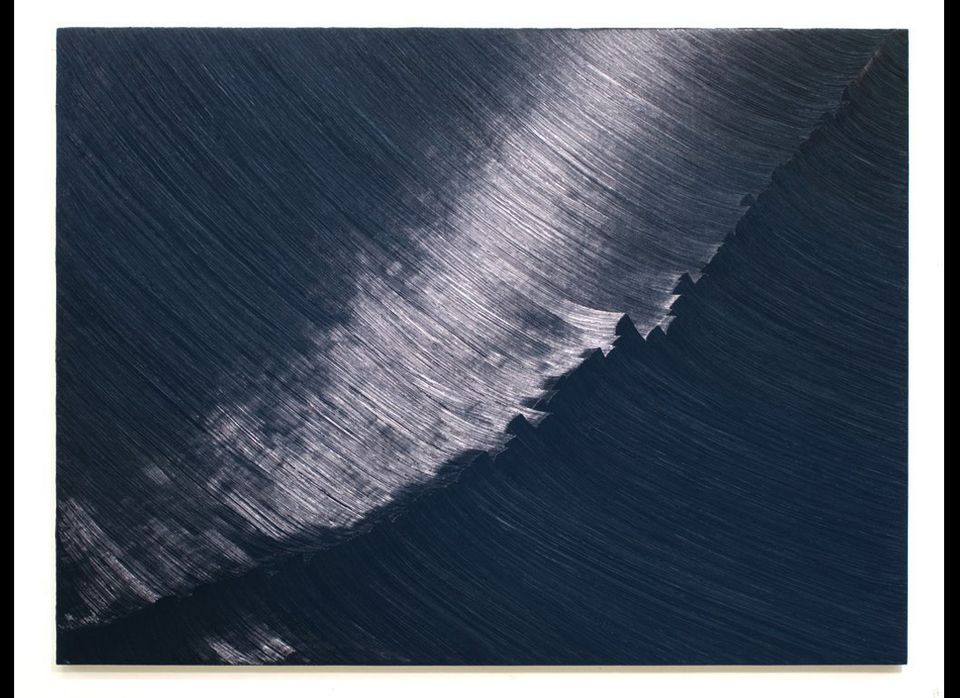 Daniel Hutchinson A Great Wave, 2012 Oil on panel 30 x 40 inches Image courtesy of Angell Gallery
