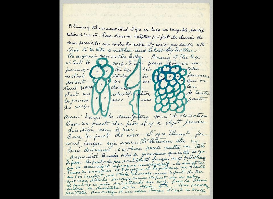 Louise Bourgeois, loose sheet, c. 1959: