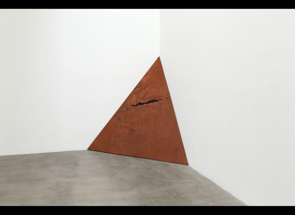 Koji Enokura, Untitled, 1970/1986, Leather, plywood, 80 3/8 x 80 3/8 x 72 inches (204 x 204 x 183 centimeters), 67 x 72 x 39