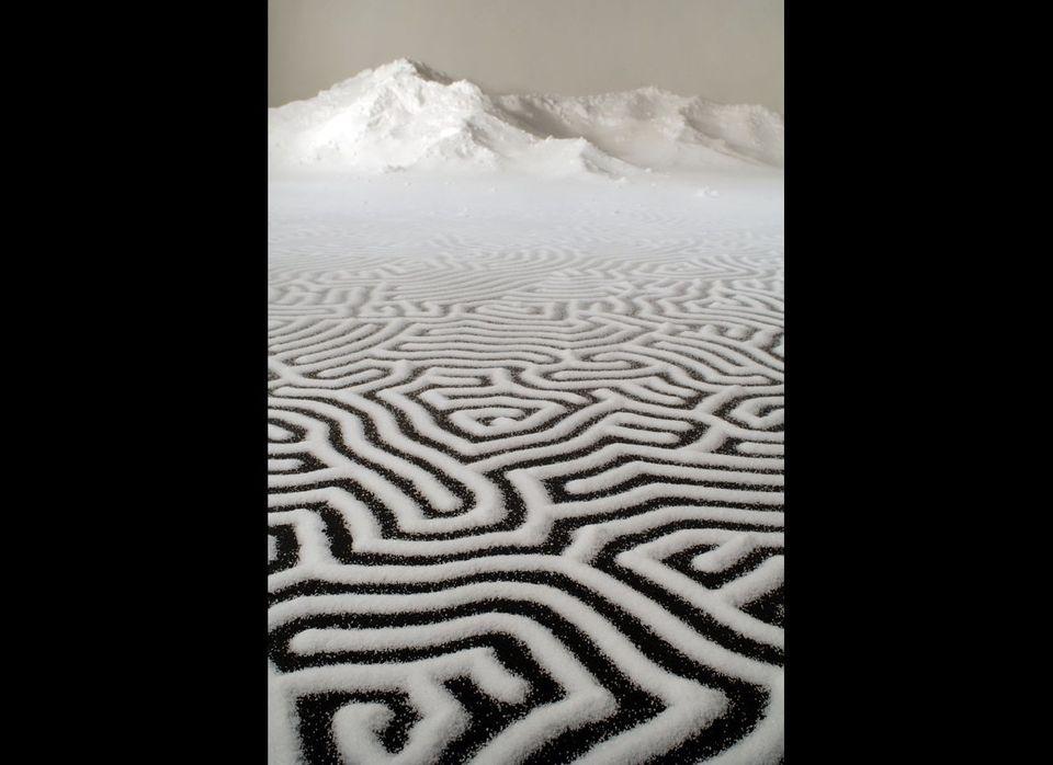 Labyrinth Salt, 4x12mMaking Mends Bellevue Arts Museum, USA 2012
