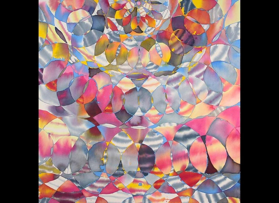 """Hadley Holliday, <em>Spindrift</em>, 2011 66"""" x 60"""" acrylic on canvas   All images courtesy of Hadley Holliday and Taylor D"""