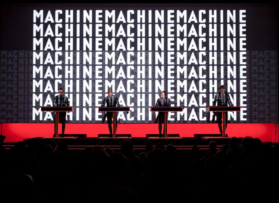 Kraftwerk performing at The Museum of Modern Art.