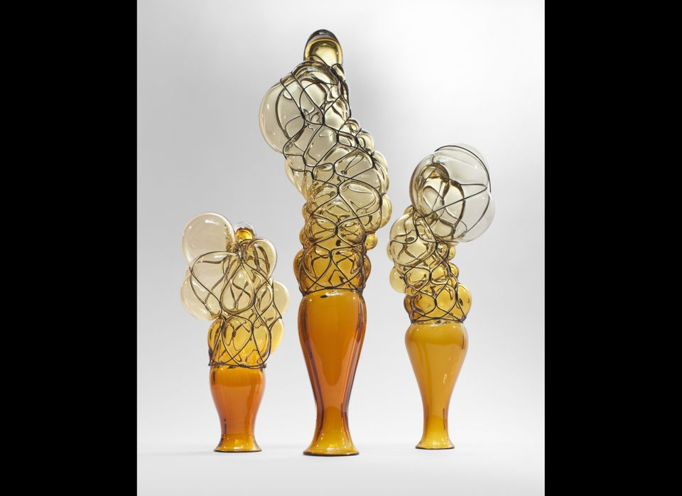 Evan Douglis, <strong>City of Glass Balloons</strong>  Glass pieces designed by RPI Arch Dean Evan Douglis. In the closing