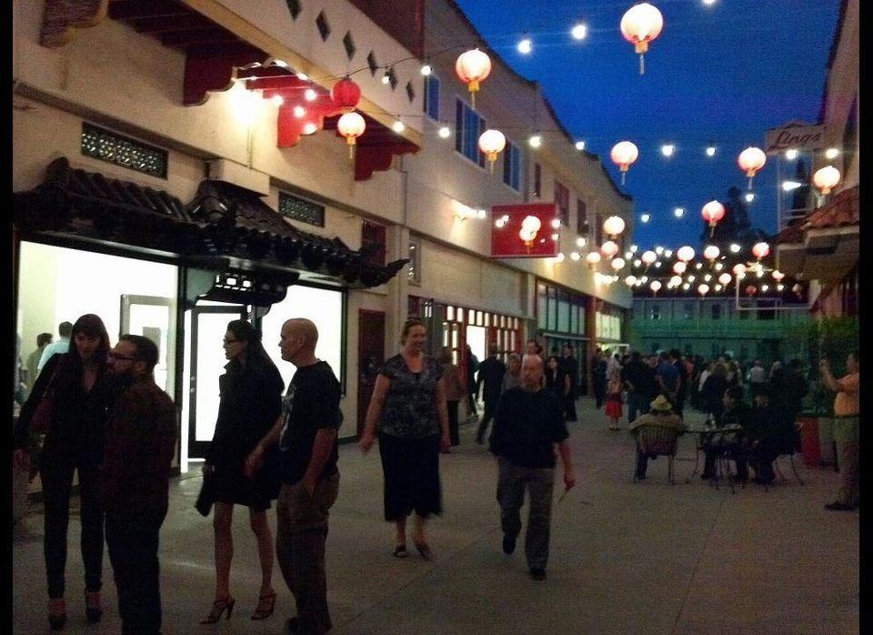 There are few stars to find in the Los Angeles night sky. Above Chinatown, the lanterns are always twinkling.