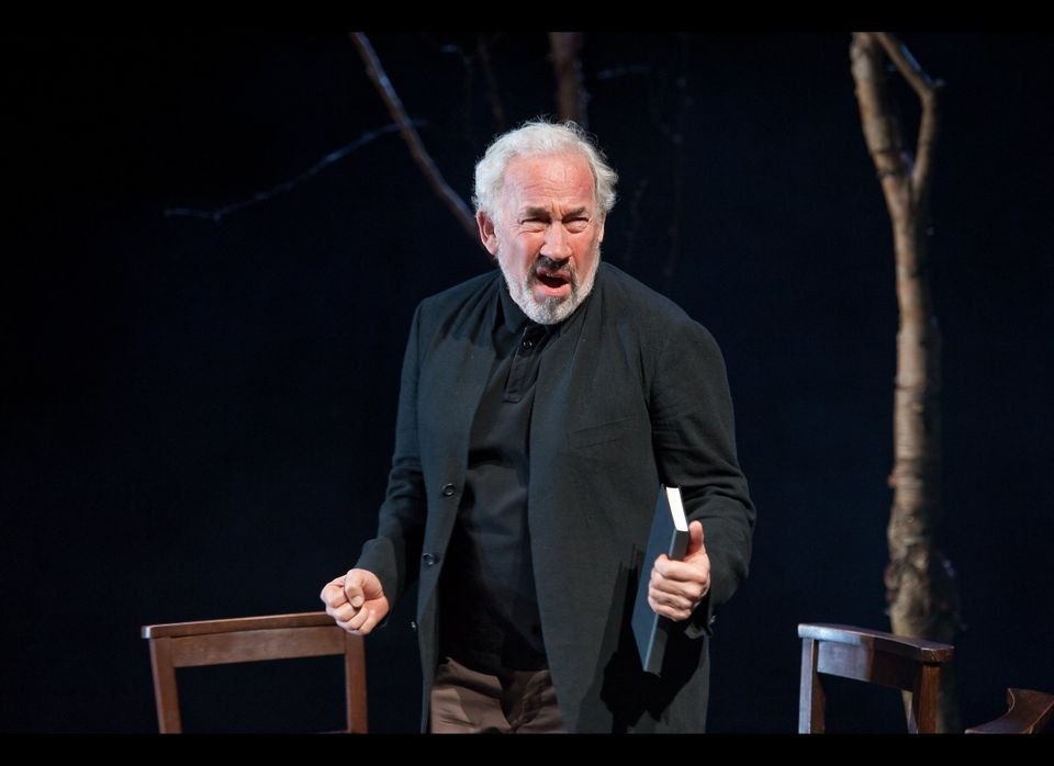 "In this undated theater image released by Brooklyn Academy of Music, Simon Callow performs in ""Being Shakespeare"" a new play"