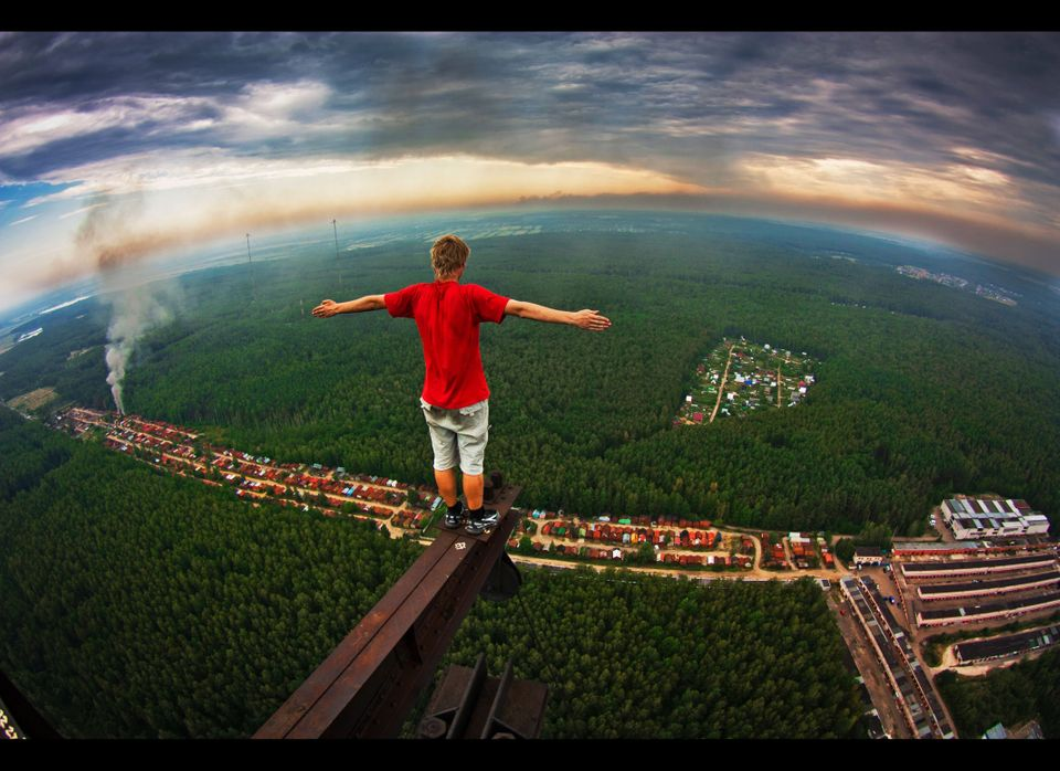 Meet the real-life sky walker - the photographer who risks his life scaling sky-high buildings to take incredible photos of t
