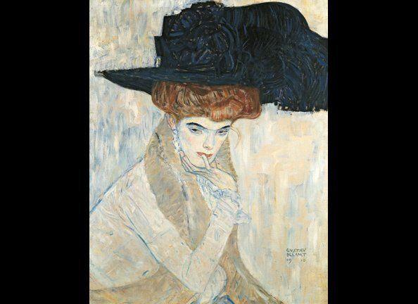 Gustav Klimt, 'The Black Feather Hat,' 1910. Courtesy of Neue Galerie.