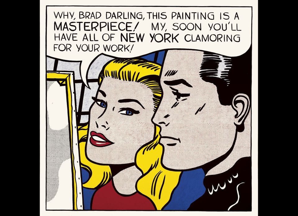 Roy Lichtenstein, American (1923-1997). Masterpiece, 1962. Oil on canvas. 137.2 x 137.2 cm (54 x 54 in). © Estate of Roy Lich