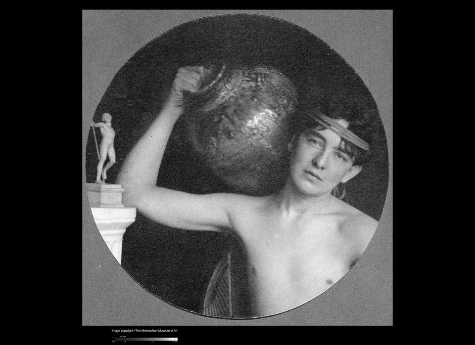 F. Holland Day, (1864 - 1933) The Honey Gatherer, c. 1898. platinum print. 4 15/16 in. x 6 9/16 in. (12.54 cm x 16.67 cm).