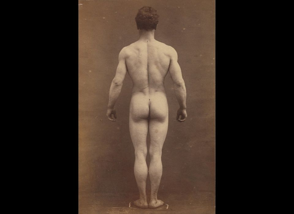 Albert Londe, Male Musculature Study, 1890