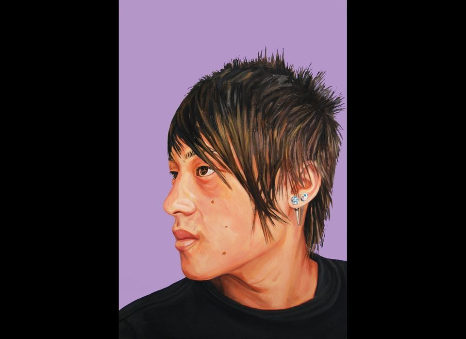 'Portrait #126 (Young Atayal Man from Qingquan)', oil on panel, 2012. Courtesy of the artist.
