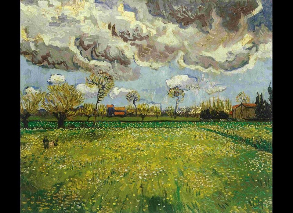 Vincent van Gogh, Landscape under a stormy sky, 1889. Oil on canvas. Fondation Socindec, Courtesy Fondation Pierre Gianadda,