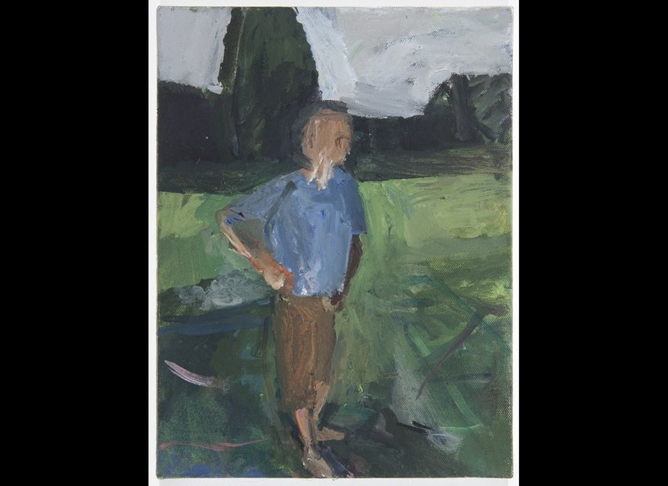 <em>Janice Nowinski, Man in Field, 12 x9 inches, oil on canvas, 2012 (courtesy of the artist)</em><br>