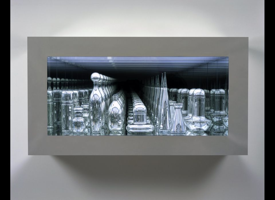 """Czech Modernism Mirrored and Reflected Infinitely"", 2005. Handblown mirrored glass, transparent and industrial mirror, chrom"