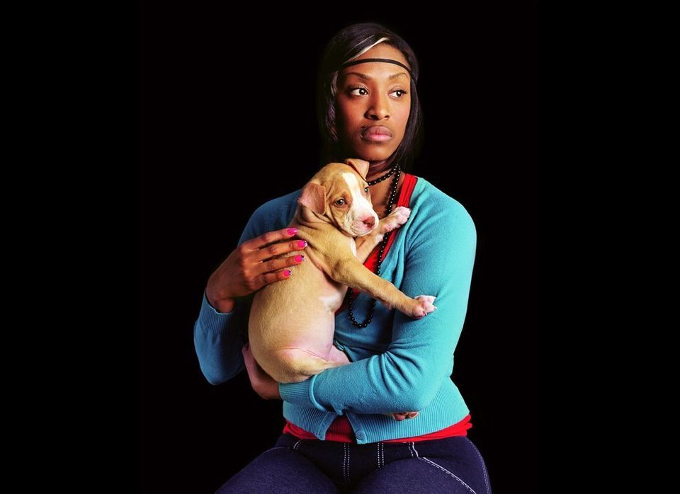 Lady with a Pitbull, 2009 Digital chromogenic print 30 x 40 inches