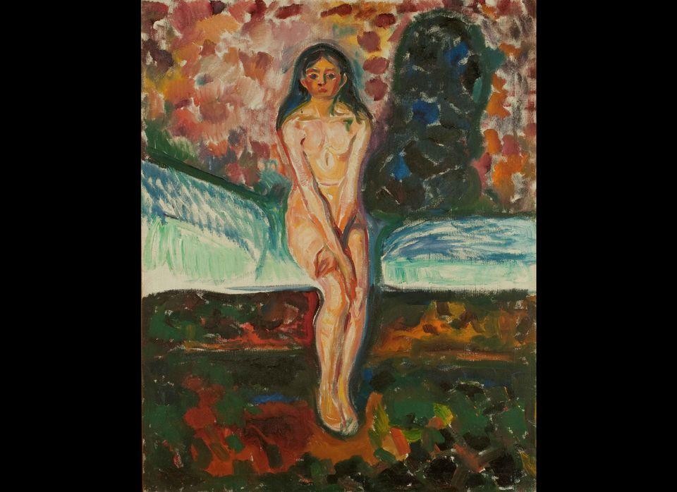 Edvard Munch  Puberty 1914-16  Oil on canvas  97 x 77  Munch Museum  © Munch Museum/Munch-EllingsendGroup/DACS 2012