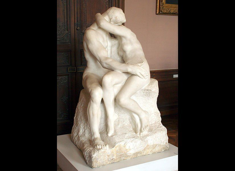 Auguste Rodin The Kiss Sculpture of Rodin in the Rodin Museum, Paris  Image: Wikimedia Commons